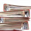 Stack red file Office folder — Stock Photo #11052739