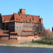 The old castle in Malbork - Poland. — Stock Photo