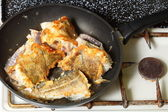 Cod fish - fish fillets - to pan-fry sth — Stock Photo