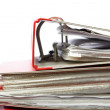 Stack red file Office folder — Stock Photo #11795841