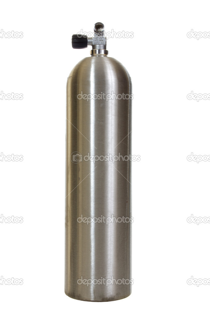 Scuba Tank With Diver Scuba Diving Tank Isolated on