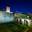 Montjuic Castle at night, Spain — Stock fotografie