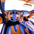 Sports car interior - Stock Photo
