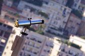 双筒望远镜观的城市 — 图库照片