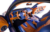 Sports car interior — Foto Stock