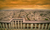 Paris dark sunset scene — Stock Photo