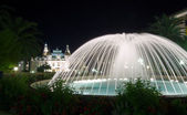 Monte Carlo fountain — Stock Photo