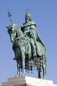 St. Stephen statue, Budapest — Stock Photo