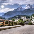 Stock Photo: Road and mountain resort