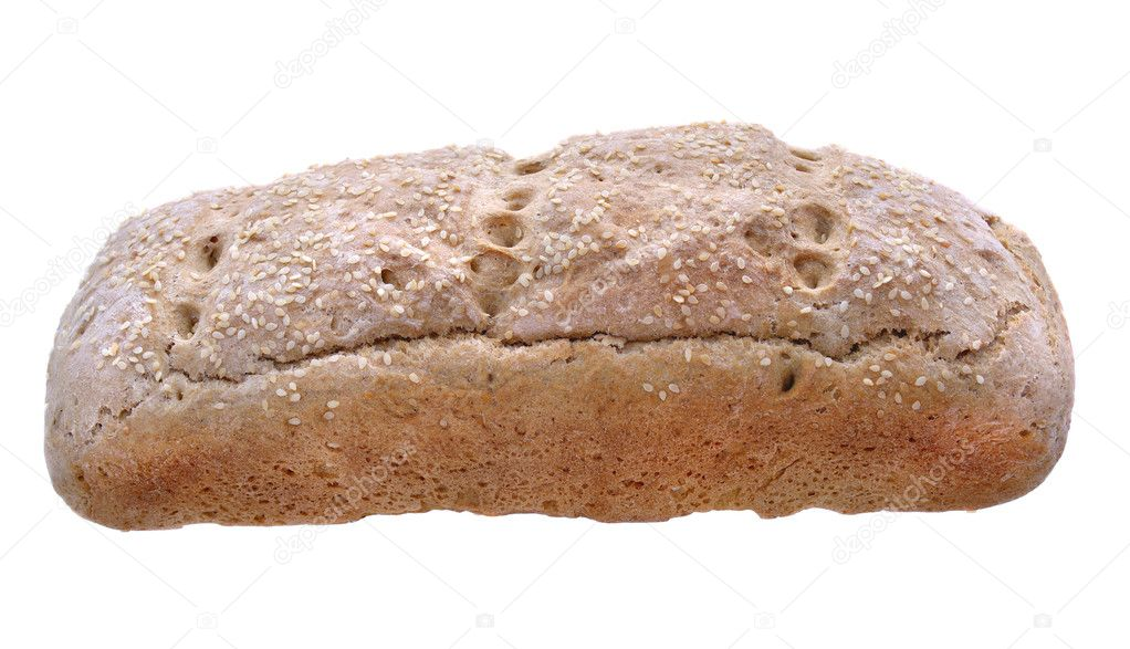 Traditional brown bread isolated — Stock Photo #12061730