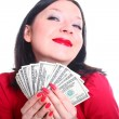 Stock Photo: She loves money