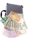 Case and cash — Stock Photo
