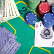 Contents of table in casino — Stock Photo #10942054