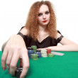 Stock Photo: My bet poker isolated