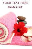 Lázně ručníky zařízení tělo — Stock fotografie