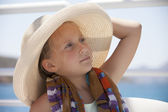 Portrait of girl with hat — Stock Photo