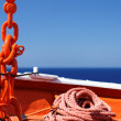 Supplies ship anchor rope and chain - Stock Photo