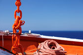 Supplies ship anchor rope and chain — Foto Stock
