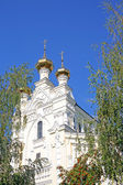 Russian Christian church on a summer — Foto de Stock