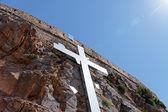 Kříž na skále — Stock fotografie