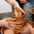 Potters make a pot — Stock Photo #12079305