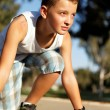 Boy at the start before running — Stock Photo #12322221
