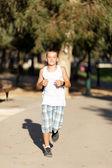 Boy runs — Stock Photo