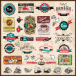 Premium quality collection of Vintage  labels - Stock Photo