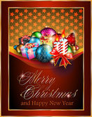 Merry Christmas Elegant Suggestive Background — Stock Photo