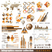Premium infographics master collection: — Stock Photo