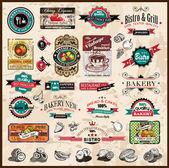 Premium-qualität-sammlung von vintage-etiketten — Stockfoto