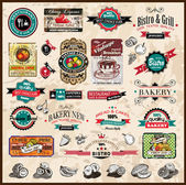 Premium quality collection of Vintage labels — Stockfoto