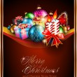 Merry Christmas Elegant Suggestive Background - Stock Vector