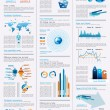 infographics page with a lot of design elements — Stock Vector #11152132