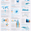 Infographics page with a lot of design elements - Stock Vector