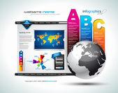 Hitech Website - Elegant Design for Business — Stock Vector