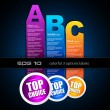 Royalty-Free Stock Vector: Ranking Papers Tag for Classifications