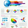 infographics page with a lot of design elements — Stock Vector #11236243