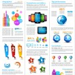 infographics page with a lot of design elements — Stock Vector #11564866