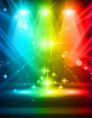Magic Spotlights — Stock Vector