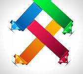 рейтинг бумаги оригами стиль — Cтоковый вектор