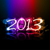 Colorful 2013 New Year Celebration Background — Stock Vector
