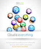 Cloud computin concept background — Stock Vector