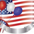 4th of July Balloons Illustration — 图库矢量图片