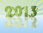 Go Green in the Year of 2013 — Stock Vector