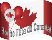Happy Canada Day Flag and Balloons Illustration — Stock Vector