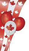 Happy Canada Day Balloons Illustration — Stock Vector