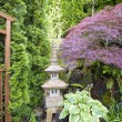 Japanese Inspired Garden with Stone Pagoda — Stock Photo #11333690