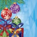regalos bajo el árbol de Navidad ilustración — Vector de stock