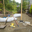 Excavating and Laying Pavers for Garden Patio — Stock Photo #11440823